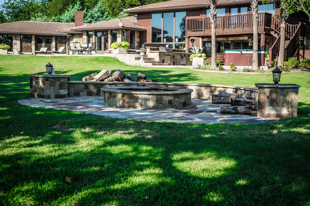 outdoor fireplace rockwall landscaping company Dallas Landscaping Services