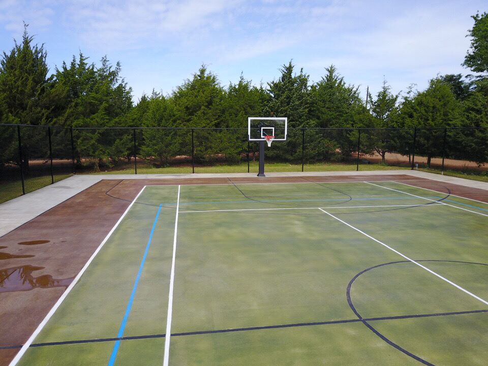 keane landscaping custom concrete landscaping basketball court